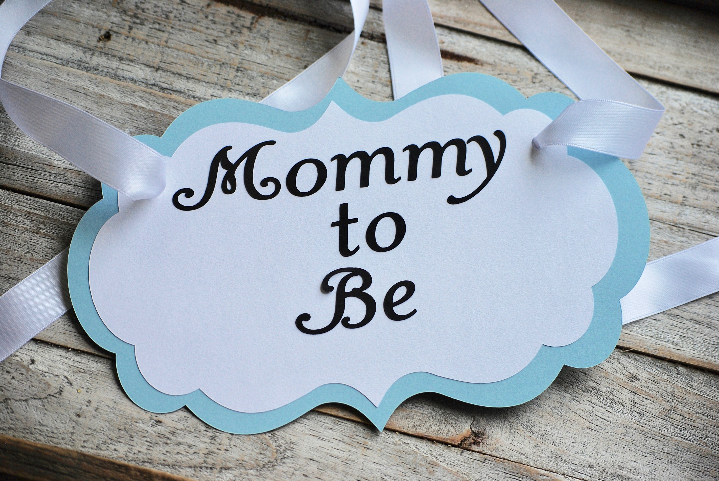 Mom to Be Blue Baby Shower Chair Sign Baby Shower Decor