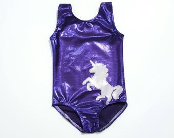 Unicorn Leotard -  Girls Leotard - Gymnastics  Leotard - Ballet Leotard - Toddler Leotard - Girls Sparkle Leotard - Tumbling  Leotard