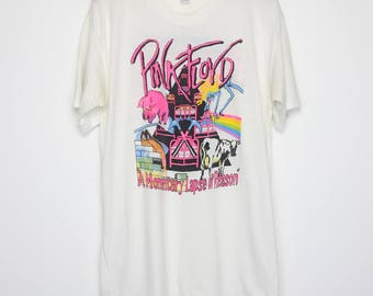 Pink Floyd Shirt Vintage tshirt 1987 A Momentary Lapse Of Reason Tour Concert Tee 1980s Roger Waters Band David Gilmour Psychedelic Rock