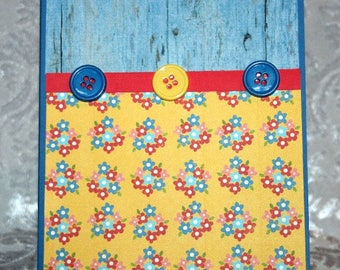 Country Floral Barn Wood Card For Sale  20180011