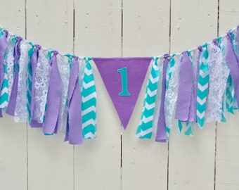 Girl Birthday Banner - Pink Birthday Banner - First Birthday Banner - girl 1st birthday banner - purple birthday - birthday banner