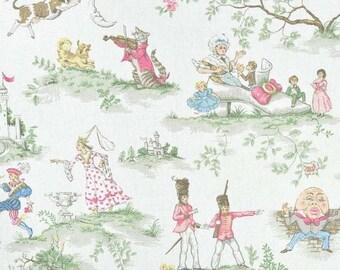 FALL is COMING SALE Covington Over The Moon Toile Nursery Print Valance Baby Boy Girl Nursery Decor Curtain Valance 52x15