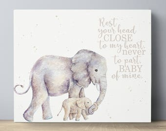 Elephant Nursery Wall Decor elephant wall decor | etsy