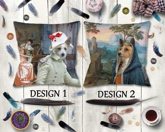 Portuguese Podengo Pillow/Portuguese Podengo Portrait/Podengo Art/Portuguese Podengo Print/Personalized Dog Pillow/Custom Dog Portrait