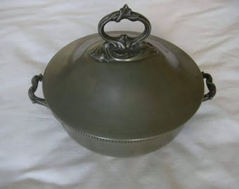 James Dixon & Sons Antique Pewter Soup Tureen with Cover