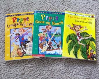 3 Pippi Longstocking Children's Books, Astrid Lindgren