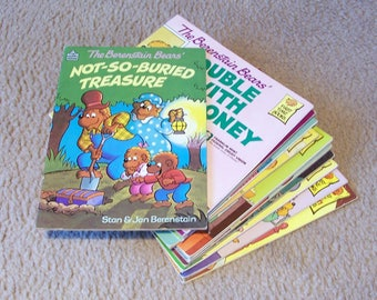 VTG 1980 The BERENSTAIN BEARS CHRISTMAS TREE Stan and Jan holiday picture