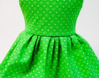 Lucky Green, St. Patrick's Day Sleeveless Dress for Your 18 Inch Doll E
