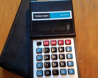 Toshiba Electronic Calculator BC-8111