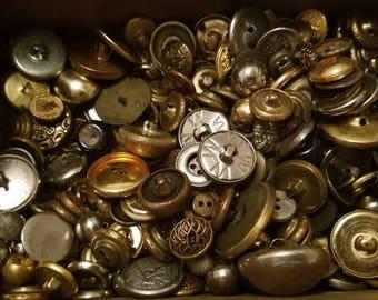 326 antique metal buttons