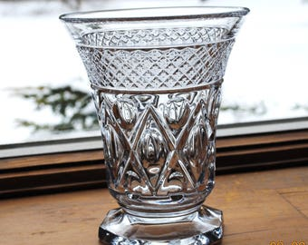 "Imperial Glass  6 1/4"" Vase in The Cape Cod Pattern"