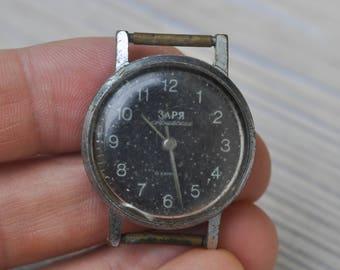 Zarja-Yunost Vintage Soviet Russian wrist watch for parts. Didn't work.
