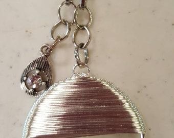 Silver Wire Purse Charm