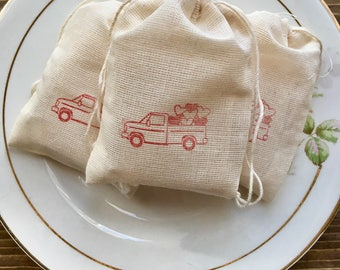 Valentine Favors, Classroom Favors, Valentine Soap Favors, Red Valentines Truck, Farmhouse Red Truck