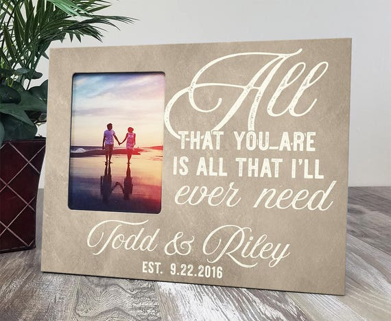 Personalized Wedding Picture Frame, Custom Wood Picture Frame, Wood ...