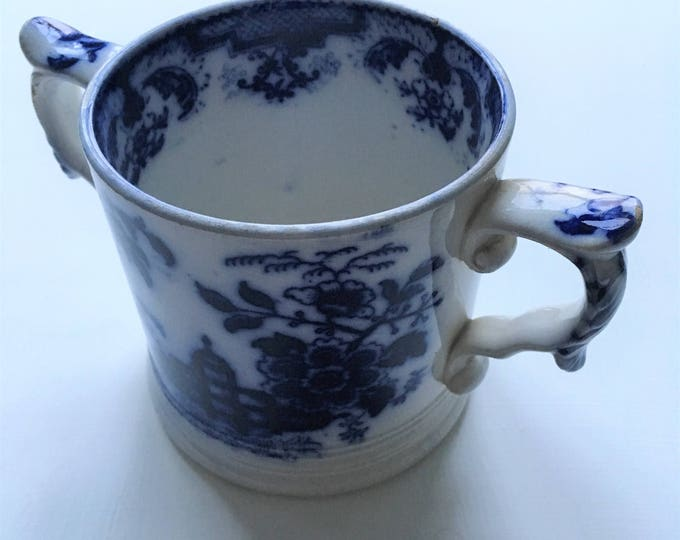 Victorian Blue & White Loving Cup