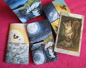 Animism Tarot & Guide Booklets, 79 Card Animal Tarot, Happy Squirrel Tarot Card, Animal Totem Symbolism, Gift for Tarot Readers