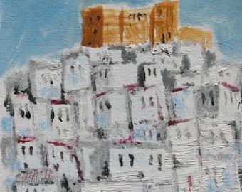 Oil painting of Karpathos