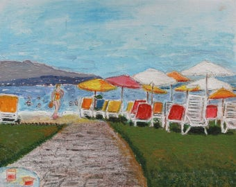 Acrylic painting of the Seaside