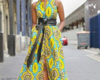 NEW - Maria maxi dress in Yellow by GITAS Portal