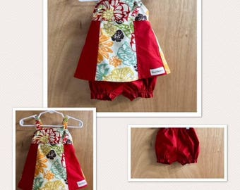 Knot Dress and Bloomers, size 3 months