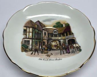 Regency Bone China Plate Old Coach House Straford, England Saucer