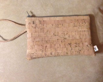 Custom CORK Wristlet - Five to CORK Colors and Patterns Available - Vegan