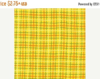 SUMMER SALE Fat Quarter ONLY - Yellow Plaid From Michael Miller