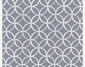 SHOP CLOSING SALE Michael Miller fabric by the yard Tile Pile Gray 1 Yard