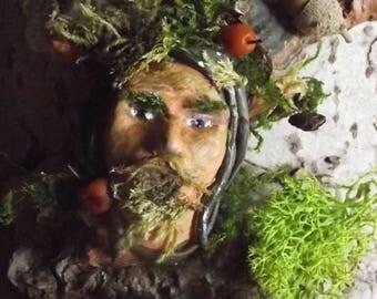 Green man altar sculpture - Woodland Spirit