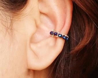 Gold Ear Cuff - No Piercing Earring -  No Piercing Ear Cuf - Fake Piercing Jewelry - Faux Conch Ring - Hoop Ear Cuff - Fake Conch Ring