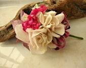 Antique Vintage Velvet Millinery Flowers Posy - C5