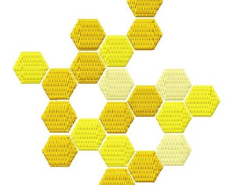 Hexie Honeycomb Machine Embroidery Design - Instant Download