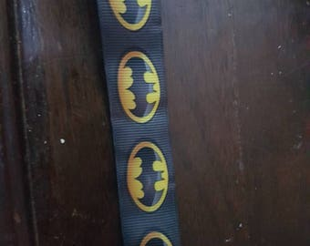 Batman inspired grosgrain ribbon