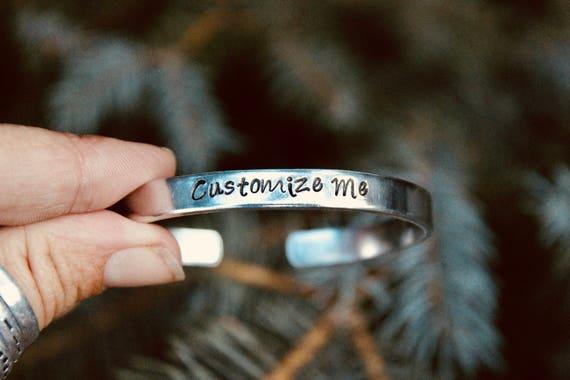 Create your Own, Custom Bangle, Inspiration Bracelet, Motivational cuff, bracelet cuff, Inspiration jewelry, Custom Bangle Cuff, Aluminum