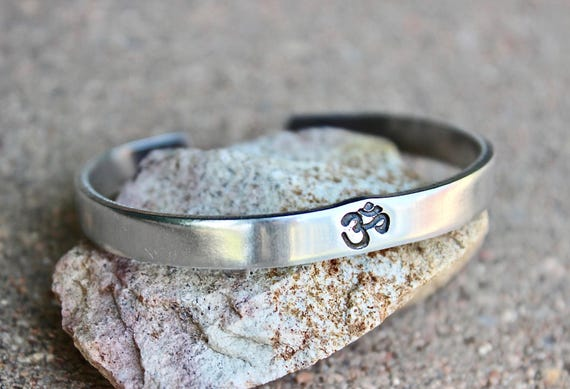Aum Bracelet, Be Here Now Bangle, Aum Cuff, Ohm Jewelry, Ohm Bracelets, Aum Ohm Bangles, Ohm Aum Inspiration, Yoga Inspired Jewelry Meditate