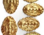 Vintage  Bracelet Bar, Vintage Cuff Base, Victorian Bracelet Bar, Jewelry Making, Patina Brass, US Made, 47x74mm, B'sue Boutiques, Item03242