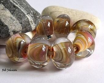 Aztec Marble, Lampwork Beads, SRA, UK
