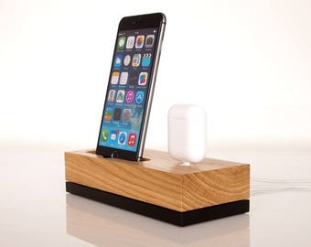 iPhone dock / AirPods charging dock, iPod dock, iPhone 6 dock, iPhone 7 dock, iPhone 8 dock, iPhone X dock, handcrafted quality