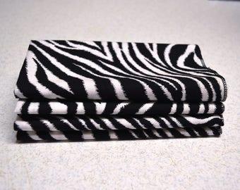 "14"" x 14 Zebta Print Cloth Napkins"
