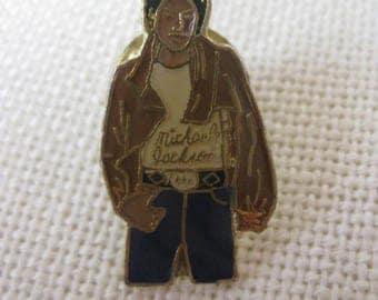 Vintage MICHARL JACKSON Enamel Pin