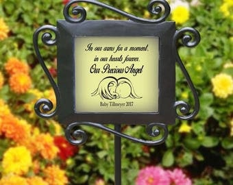 Custom Memorial Garden Sign Stake Any Message Any Color Personalized Baby Angel Any Graphic