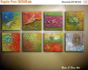 Summer SALE Large Abstract Heavy Textured Painting,Mixed Canvas Art, Sculptural Artwork, Modern Wall Decor, Multicolored Art, Large Artwork