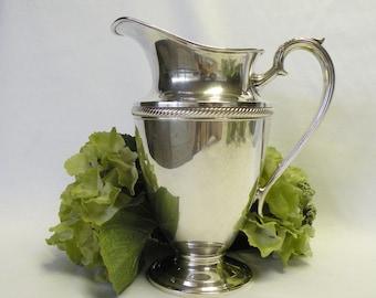 Silverplate Water Pitcher - Vintage Ornate Silverplate Vase - International Silver, Castleton - Wedding Decor, Home Decor, Tea Set Accessory