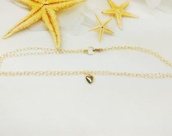 14kt Gold Heart Anklet Valentine Gift 14kt Gold Chain Anklet 14kt Gold Anklet Double Strand 14or or 14k Gold Filled Anklet BuyAny3+Get1 Free