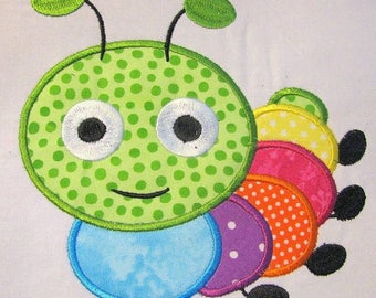 ON SALE Cute Crawling Bug 04 Machine Applique Embroidery Design - 4x4, 5x7 & 6x8