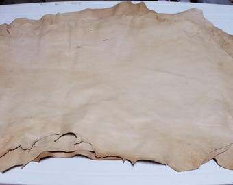 Italian Lambskin Lamb leather skin hide skins hides UNFINISHED NATURAL PEANUT  30sqf #A2589