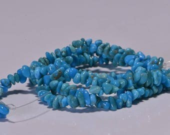 Sleeping Beauty Turquoise Tiny chips Beads 3 mm Natural Gemstone Beads