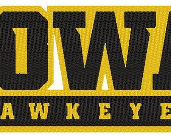 Iowa Hawkeyes NAME Embroidered Iron Patch