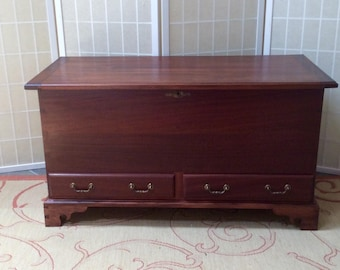 Mahogany Blanket Chest   Cedar lined chest